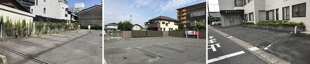 駐車場ライン・白線工事ビフォアー