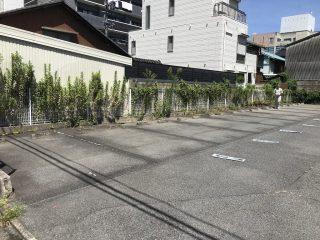 名古屋市中村区 駐車場ライン引き直し