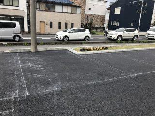 名古屋市緑区 ドラッグストア駐車場ライン工事