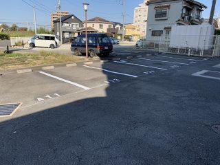 あま市 マンション駐車場ライン工事