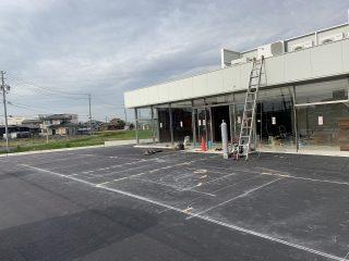 半田市 コンビニ駐車場ライン工事