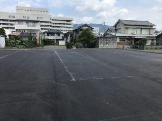 新城市 駐車場ライン工事