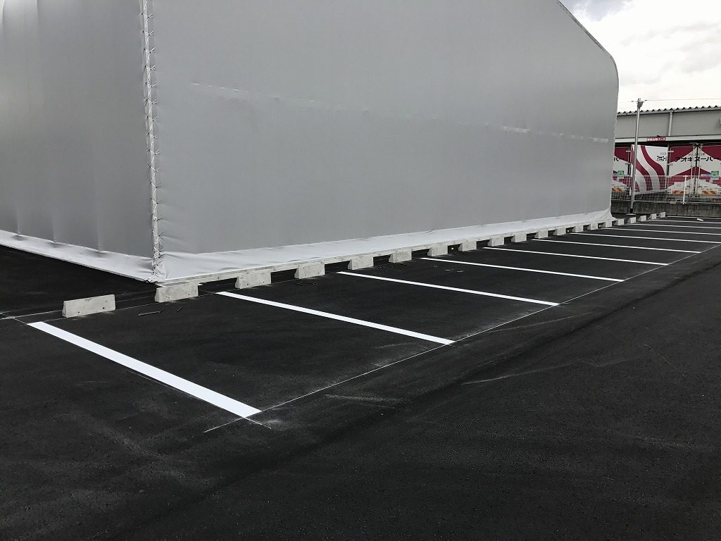 弥冨市 企業様 駐車場ライン工事