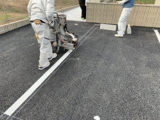 名古屋市南区 アパート駐車場ライン工事