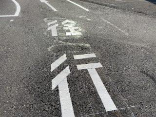 名古屋市名東区 病院構内道路 ライン工事
