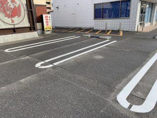 岐阜県 店舗様駐車場 塗り替え工事