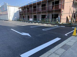 岩倉市 店舗様駐車場 新設ライン工事