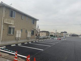 春日井市 月極駐車場 新設ライン工事
